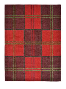 ideal-home-orkney-check-rug