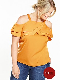 lovedrobe-cold-shoulder-ruffle-detail-top