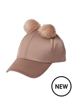 river-island-satin-double-pom-pom-cap