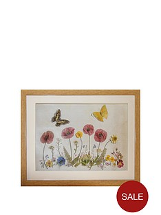 arthouse-homespun-floral-butterfly-framed-picture