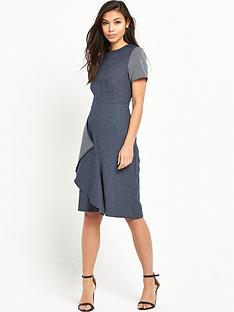 lost-ink-adalyn-structured-frill-dress-blue