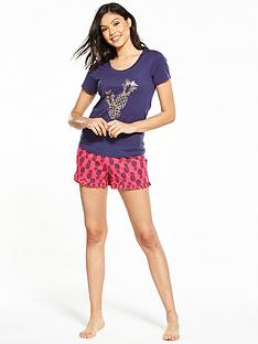 v-by-very-pina-colada-short-pyjama-set