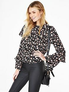 v-by-very-fluted-sleeve-blouse