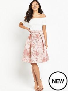ax-paris-bardot-2-in-1-midi-dress-pink
