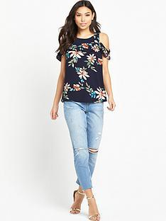 ax-paris-cold-shouldernbspfrill-blouse