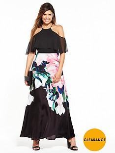 coast-black-ground-flamenco-maxi-dress