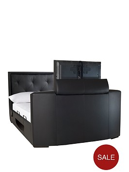 estates-fauxnbspleather-lift-up-storage-tv-bed-frame-with-mattress-options-buy-and-save