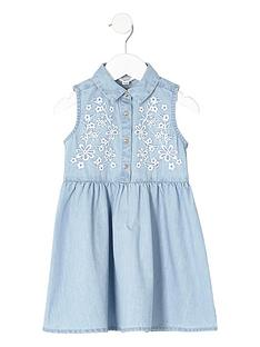 river-island-mini-mini-girls-blue-embroidered-denim-dress