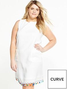 lost-ink-curve-curve-shift-dress-with-tassel-hem