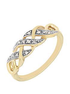 love-diamond-9-carat-yellow-gold-diamond-set-kiss-ring