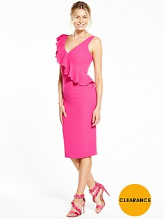 v-by-very-ruffle-bodycon-dress