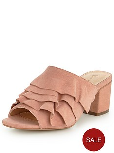 v-by-very-heather-real-suede-ruffle-mule-pink