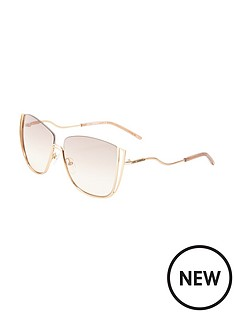 karl-lagerfeld-semi-rimless-cut-out-sunglasses