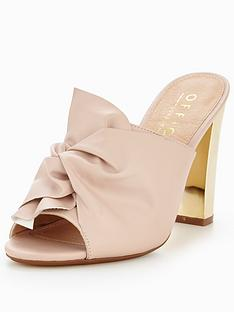 office-spice-bow-heeled-mule-pink