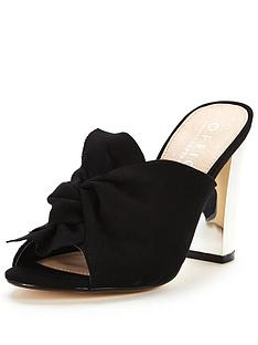 office-spice-bow-heeled-mule-black