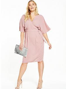 so-fabulous-curve-woven-wrap-kimono-sleeve-dress-nbsp--blush-pink
