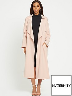 rochelle-humes-maternity-coat-ndash-formal-frill-duster