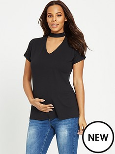 rochelle-humes-maternity-top-ndash-black