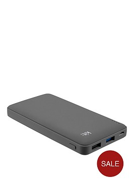 kit-fresh-qualcomm-quick-charge-portable-charging-power-bank-12000-mahnbspwith-two-charging-ports-fornbspiphoneipadandroidtabletrsquos