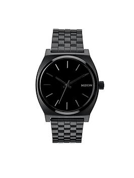 nixon-time-teller-black-dial-black-bracelet-watch