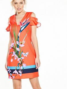 ted-baker-leea-tunic-dress-mid-red