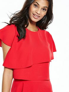 ted-baker-layered-frill-cropped-top