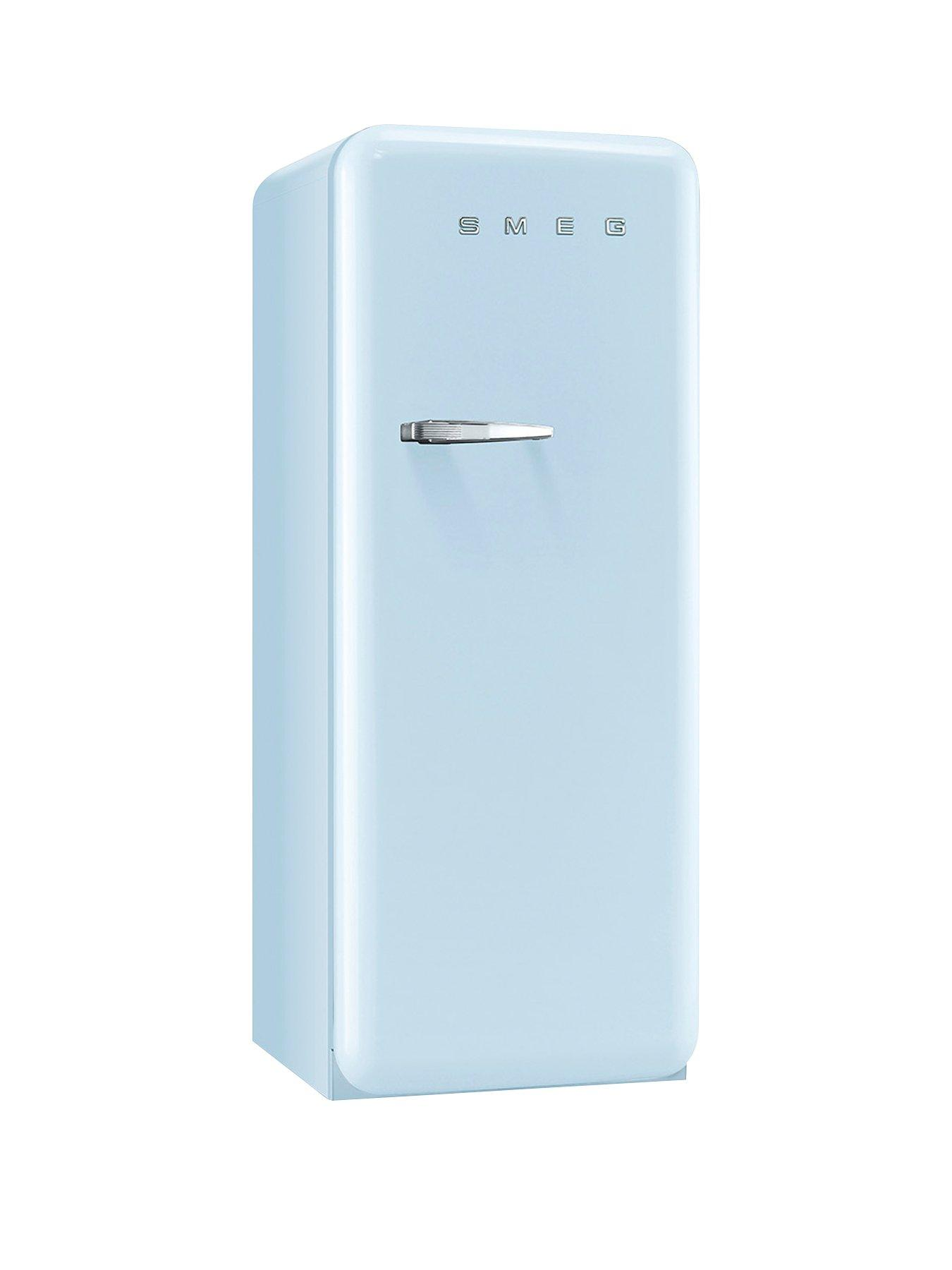Smeg FAB28QAZ1 60cm 50s Retro Style Right Hand Hinged Fridge with Icebox -  Pastel Blue