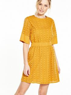 warehouse-broderie-dress-yellow