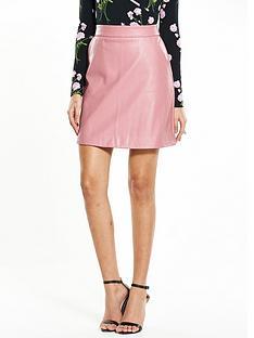 warehouse-pu-pelmet-skirt-pink