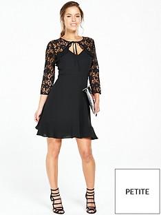 v-by-very-petite-petite-lace-frill-yoke-tea-dress-blacknbsp