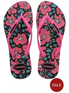1600143589: HAVAIANAS Slim Floral Flip Flop Sandal