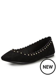 oasis-scallop-edge-flat-ballerina-shoes