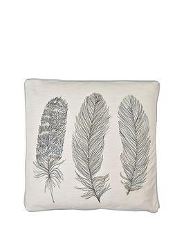 arthouse-blue-feather-cushion