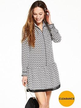 v-by-very-printed-drop-waist-dress