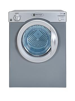 white-knight-c39asnbsp35kg-compact-vented-freestanding-tumble-dryer-silvernbsp