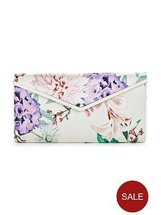 v-by-very-satin-flower-clutch-bag