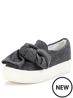 lost-ink-bow-detail-slip-on-plimsoll