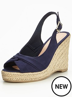v-by-very-dandelion-knotted-front-wedge-navy