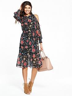 v-by-very-cold-shoulder-ruffle-midi-dress