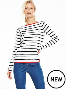 yas-luna-stripe-knit-top