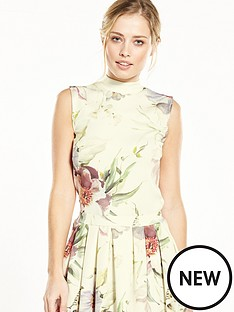 v-by-very-high-neck-floral-top