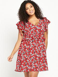 so-fabulous-curve-flute-sleeve-printed-tea-dress