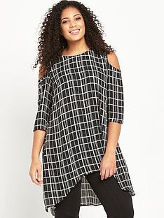 so-fabulous-cold-shoulder-longline-printed-tunic-monochrome