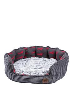 petface-deli-bed-grey-bamboo-amp-jumbo-cord-26-inch