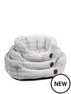 petface-white-plush-oval-bed-26-inch