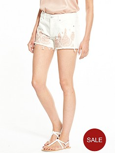 v-by-very-embroidered-short-white