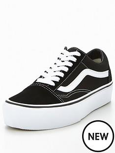 0aa5766c583 Vans Old Skool Platform - Black White