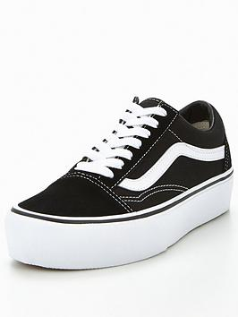 dc30f40eec Vans Old Skool Platform - Black White