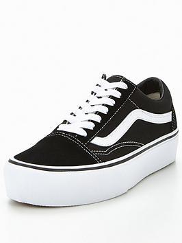 40dd5511d46 Vans Old Skool Platform - Black White