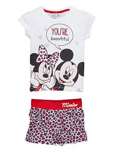 minnie-mouse-t-shirt-and-short-set-white